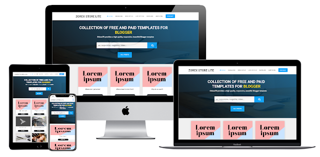 Zorex Store Lite Blogger Premium template