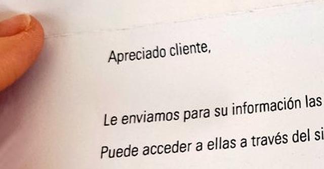 Carta del Banco
