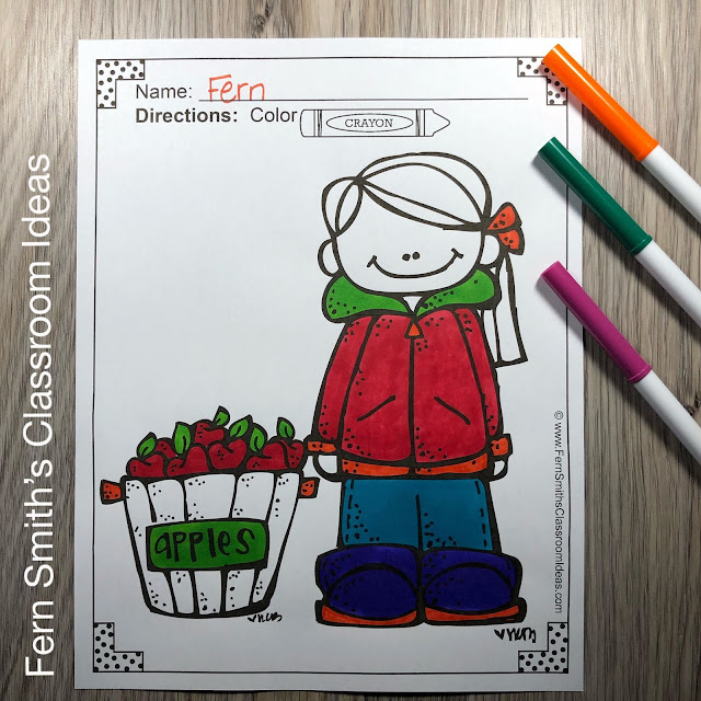 Fall & Apples Coloring Pages - 88 Pages of Fall Apple Coloring Fun from #FernSmithsClassroomIdeas
