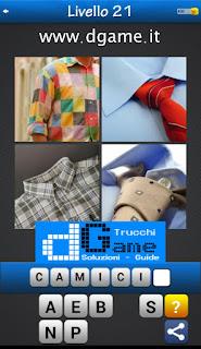 PACCHETTO 7 Soluzioni Trova la Parola - Foto Quiz con Immagini e Parole livello 21