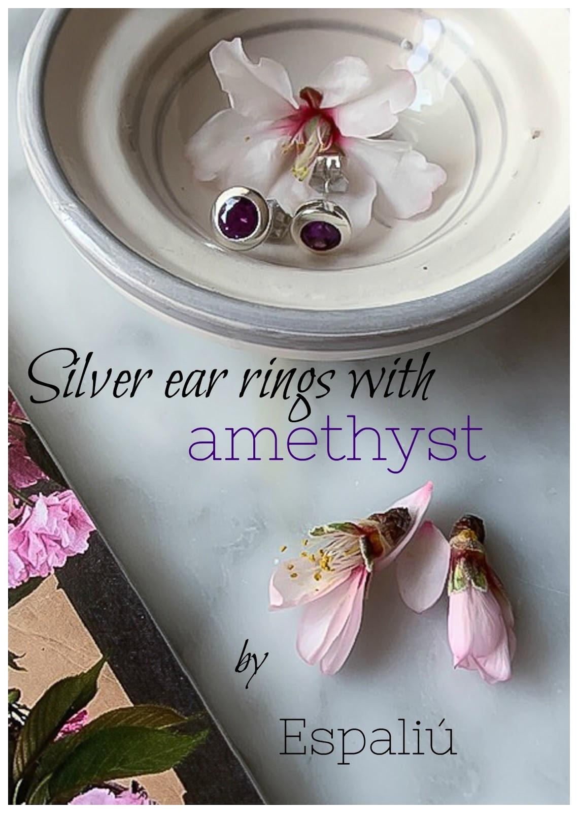 Espaliu silver earrings with amethyst