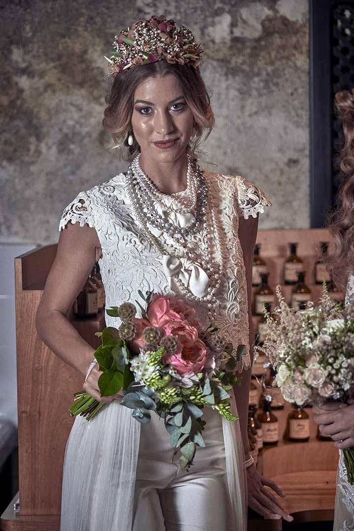 peinado de novia sencillo 2020 con trenzas
