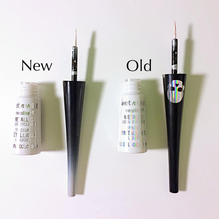 wet n wild megaliner Metallic Liquid Eyeliner Wicked White vs Skull Prayer