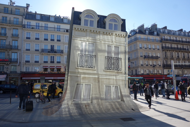 paris maison fond une installation de leandro erlich gare du nord x me paris la douce. Black Bedroom Furniture Sets. Home Design Ideas