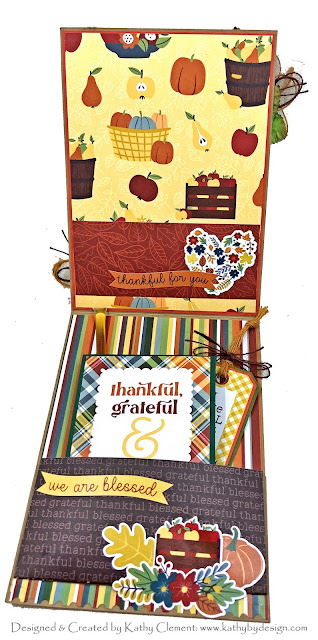 Photoplay Autumn Greetings Tea Themed Card by Kathy Clement for Really Reasonable Ribbon