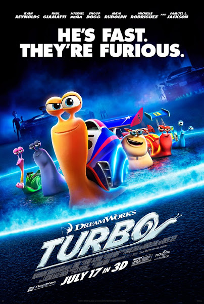 Poster of Turbo 2013 Dual Audio [Hindi-English] 720p BluRay ESubs Download