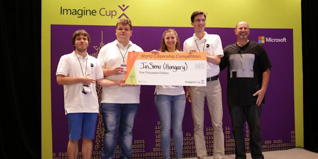 35 csapat között ért el harmadik helyezést a Microsoft Imagine Cup világversenyen a magyar csapat által fejlesztett InSimu Patient alkalmazás a World Citizenship kategóriában. A fejlesztés forradalmi változást hozhat az orvosi diagnosztikában, jelentősen javítva a gyógyulás esélyét.