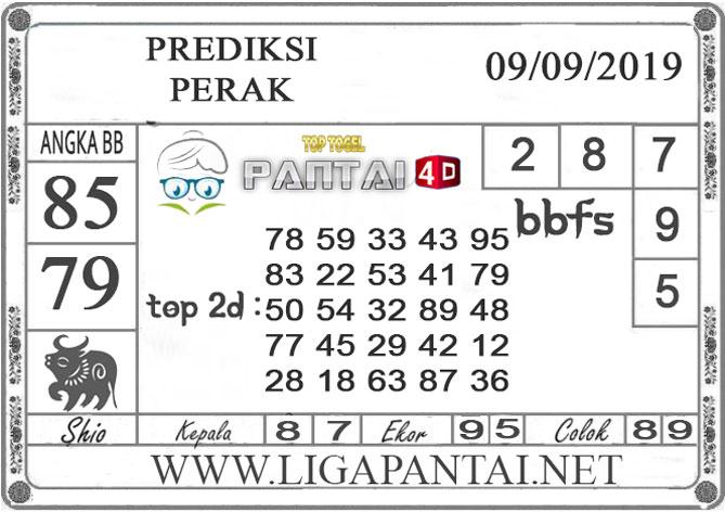 """PREDIKSI TOGEL """"PERAK"""" PANTAI4D 09 SEPTEMBER 2019"""