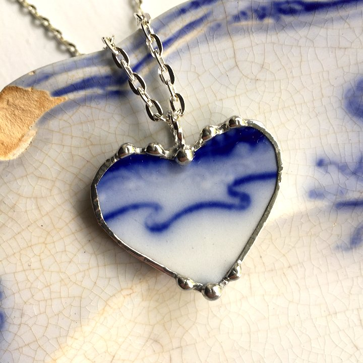 flow blue china jewelry by Laura Beth Love