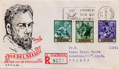Sobre PDC de sellos de obras de Sorolla, 1964