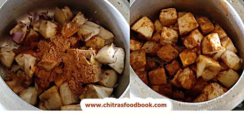 sweet potato vatha kuzhambu