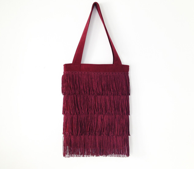 Fringed Tote Bag Sewing Tutorial
