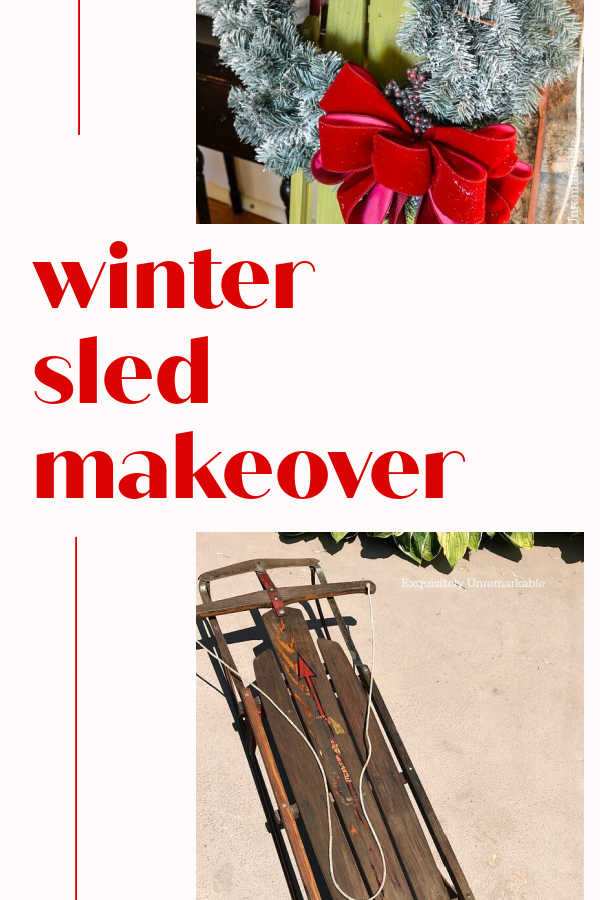 Winter Sled Makeover Pin