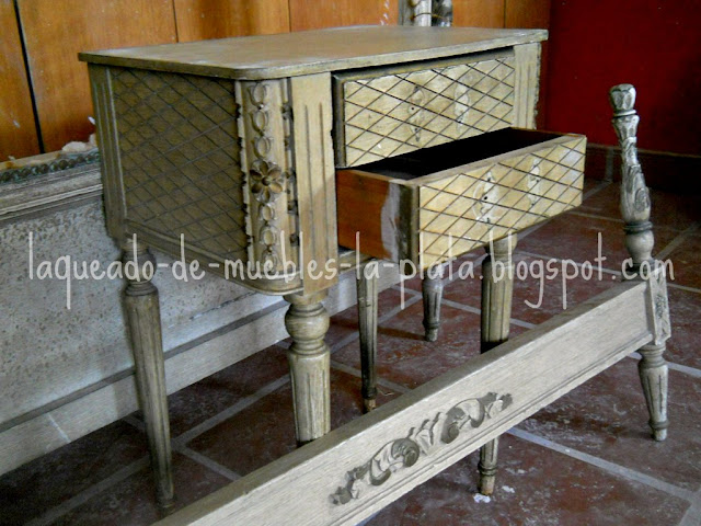 Laqueado muebles estilo
