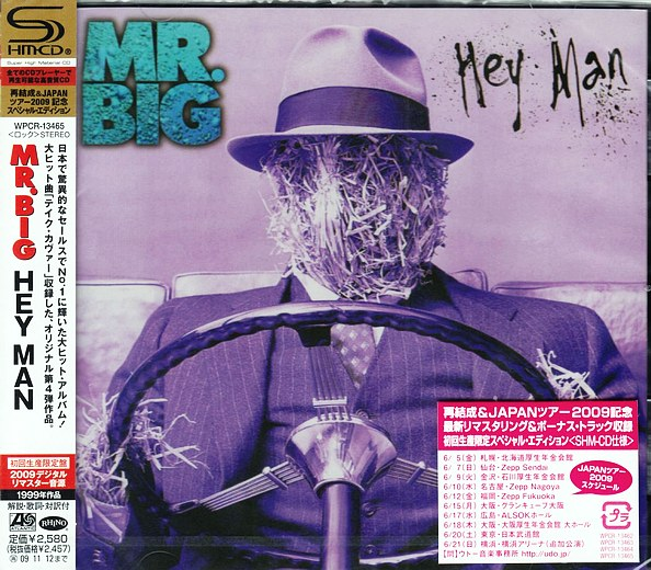 Mr. BIG - Hey Man [Japanese Remastered SHM-CD LTD Release +4] Out Of Print full