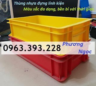 tndb2.2 - Thùng nhựa B2, khay nhựa đặc, hộp nhựa B2, sóng nhựa công nghiệp có nắp