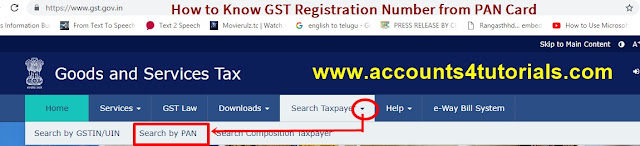 get gst registration number from pan number step_1