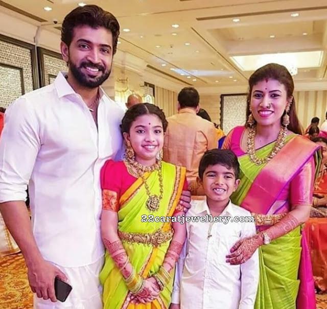 Actor Arun Vijay Family - Jewellery Designs