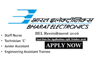 BEL, Barath, Electronics, Limited, Staff Nurse, Staff nurse jobs, Staff Nurse vacancy, Recruitment, Notification, Bangalore, Karnataka