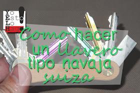 cómo hacer un llavero tipo navaja suiza