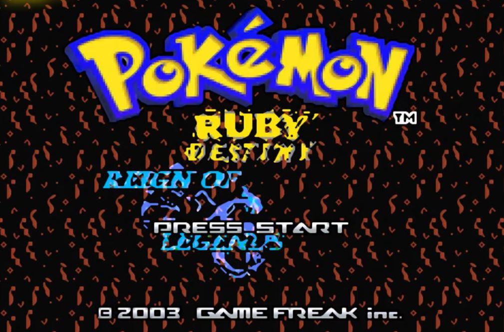 Pokemon Ruby Destiny 1 Reign of Legends para GBA Imagen Portada