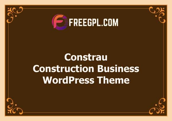 Constrau - Construction Business WordPress Theme Free Download