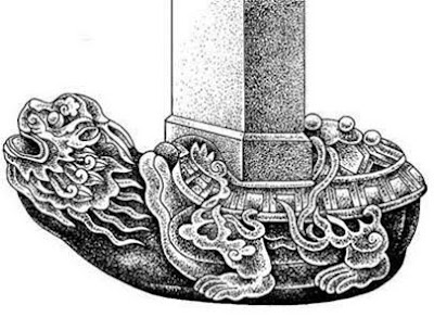Bá Hạ có hình dạng mình rùa đầu rồng , thích cõng vật nặng trên lưng