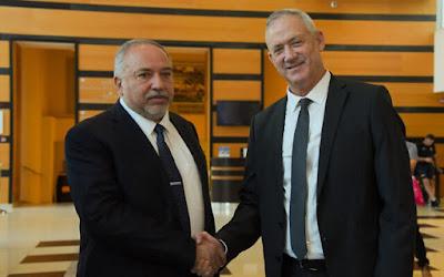 Acordo com Lieberman para  Benny Gantz ser o primeiro-ministro