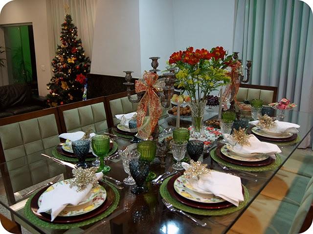 Mesa : Ceia de Natal - Decoração para o Jantar - Completa
