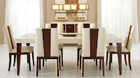 Brown and beige dining chairs for attractive dining room idea