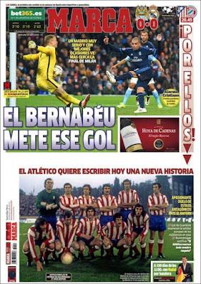 Portada Marca: El Bernabéu mete ese gol