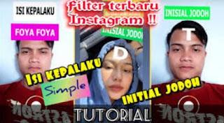Filter Inisial Jodoh di Instagram