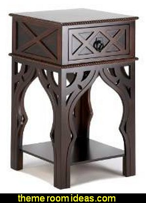 Moroccan-Style Side Table  Moroccan decorating ideas - Moroccan decor - Moroccan furniture - decorating Moroccan style - Moroccan themed bedroom decorating ideas - Exotic theme decorating - Sultans Palace - harem style bedrooms Arabian nights Moroccan bedroom furniture - moroccan wall decoration ideas