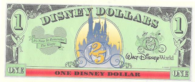 Walt Disney World 25th Anniversary Disney Dollar