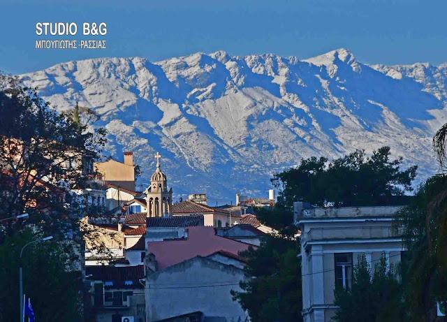 Άσπρισαν τα βουνά της Αργολίδας