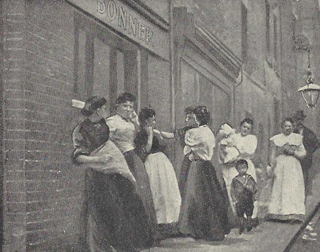 Ladies outside the pub 1901. www.jack-the-ripper.org
