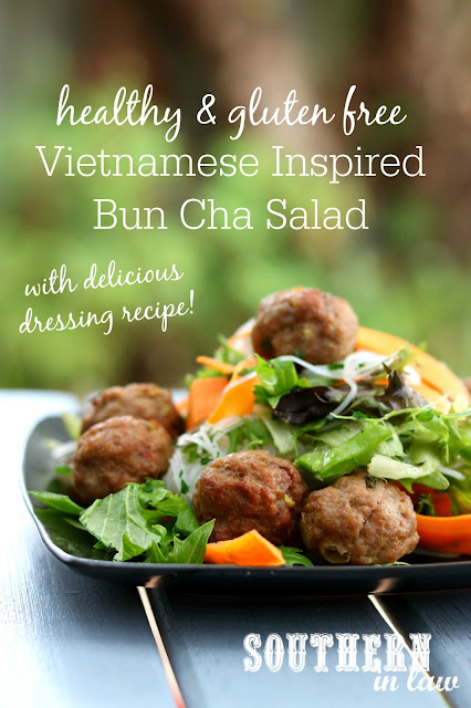 Easy Healthy Vietnamese Bun Cha Salad Recipe - gluten free, healthy, low fat, high protein, clean eating recipes, dinner, lunch