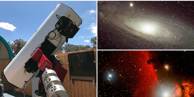 "ATEO-1: 16"" Astrograph Imaging Telescope with its images acquired of M31, The Andromeda Galaxy and   Barnard 33, the Horsehead Nebula."
