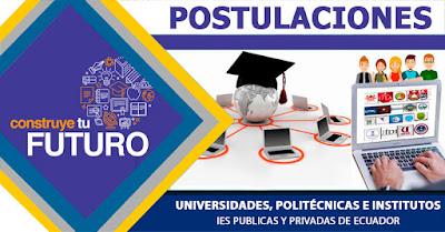 postulaciones para as universidades 2018