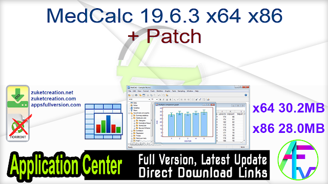 MedCalc 19.6.3 x64 x86 + Patch