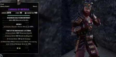 The Medusa Set - Heavy Armor, Jewelry, Weapons