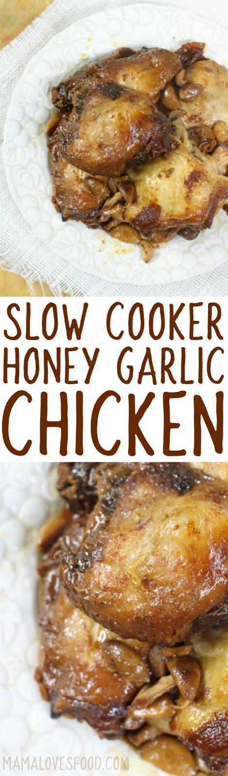 honey garlic crockpot chicken