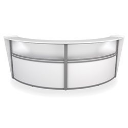 Curved Front Reception Desk in White