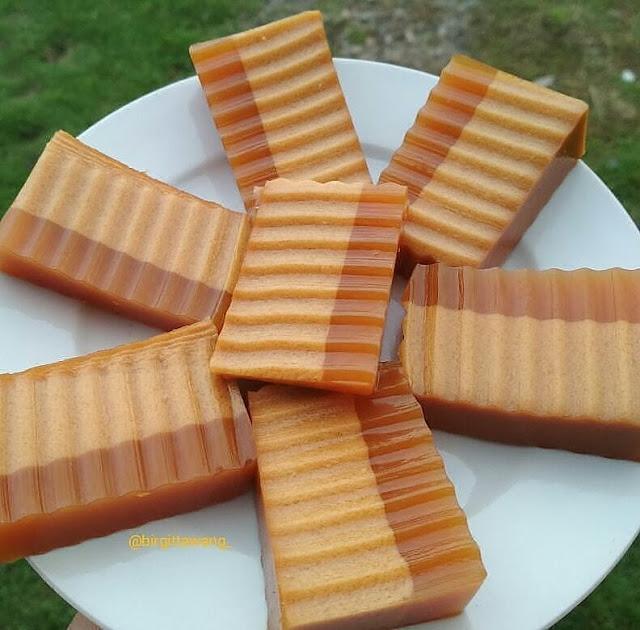 Resep dan cara membuat puding gula merah