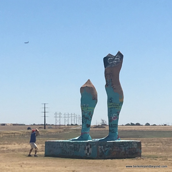 Ozymandias Big Art installation in Amarillo, Texas