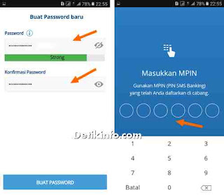 membuat password baru mobile banking mandiri