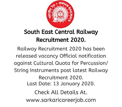 Railway recruitment 2020 - latest government job vacancies.