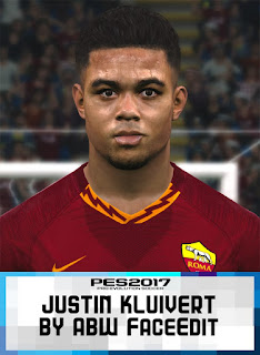 PES 2017 Faces Justin Kluivert by ABW_FaceEdit