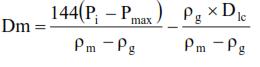 intermediate casing burst equation