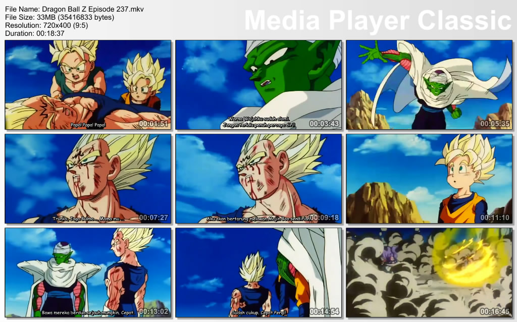 Download Film / Anime Dragon Ball Z Majin Buu Saga Episode